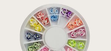 Flori 3D unghii