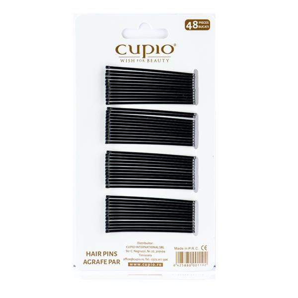 Agrafe de par Cupio - Negre drepte 5.6 cm