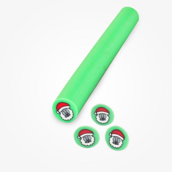 Batonas Fimo Mos Craciun Verde