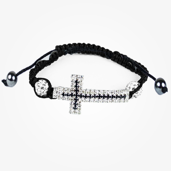 Bratara Black Cross