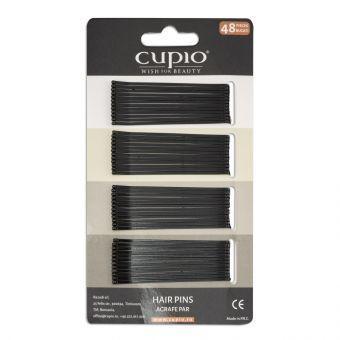 Agrafe de par Cupio - Negre drepte 6 cm
