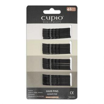 Agrafe de par Cupio - Negre ondulate 4.6 cm