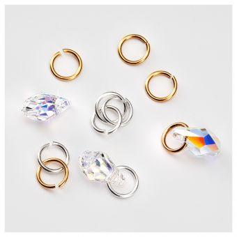 Piercing de unghii Tiny Treasures Crystal AB 3 buc