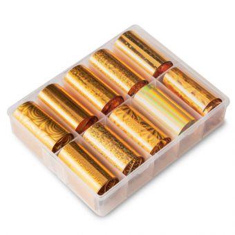 Folie de transfer set 10 Holographic Gold