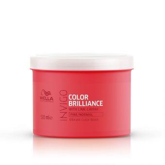 Masca de par hidratanta pentru par normal si fin Wella Professionals Color Brilliance 500 ml