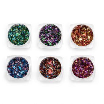 Pigmenti de unghii Flakes set 6 #02