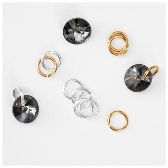 Piercing de unghii Tiny Treasures Silver Night 3 buc