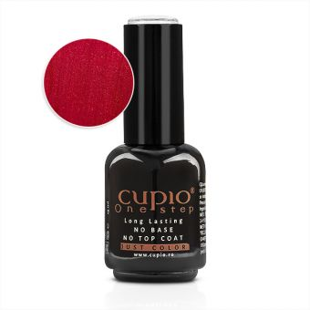 Gel Lac 3 in 1 Cupio One Step Fire Red 15ml - R727