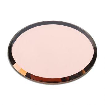 Placuta rotunda din sticla pentru adeziv