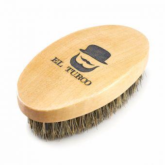 Perie de barba cu maner de lemn