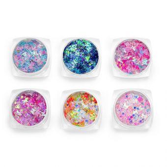 Glittere pentru fata si corp set 6 #09