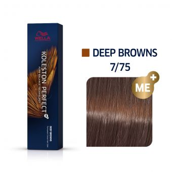 Vopsea de par Wella Professionals Koleston Perfect 7/75 Blond Mediu Maro Mahon