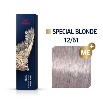 Vopsea de par Wella Professionals Koleston Perfect 12/61 Blond Special Violet Cenusiu