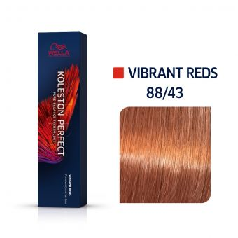 Vopsea de par Wella Professionals Koleston Perfect 88/43 Blond Deschis Intens Rosu Auriu