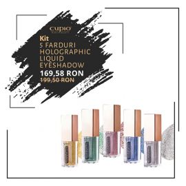 Kit 5 farduri Holographic Liquid Eyeshadow