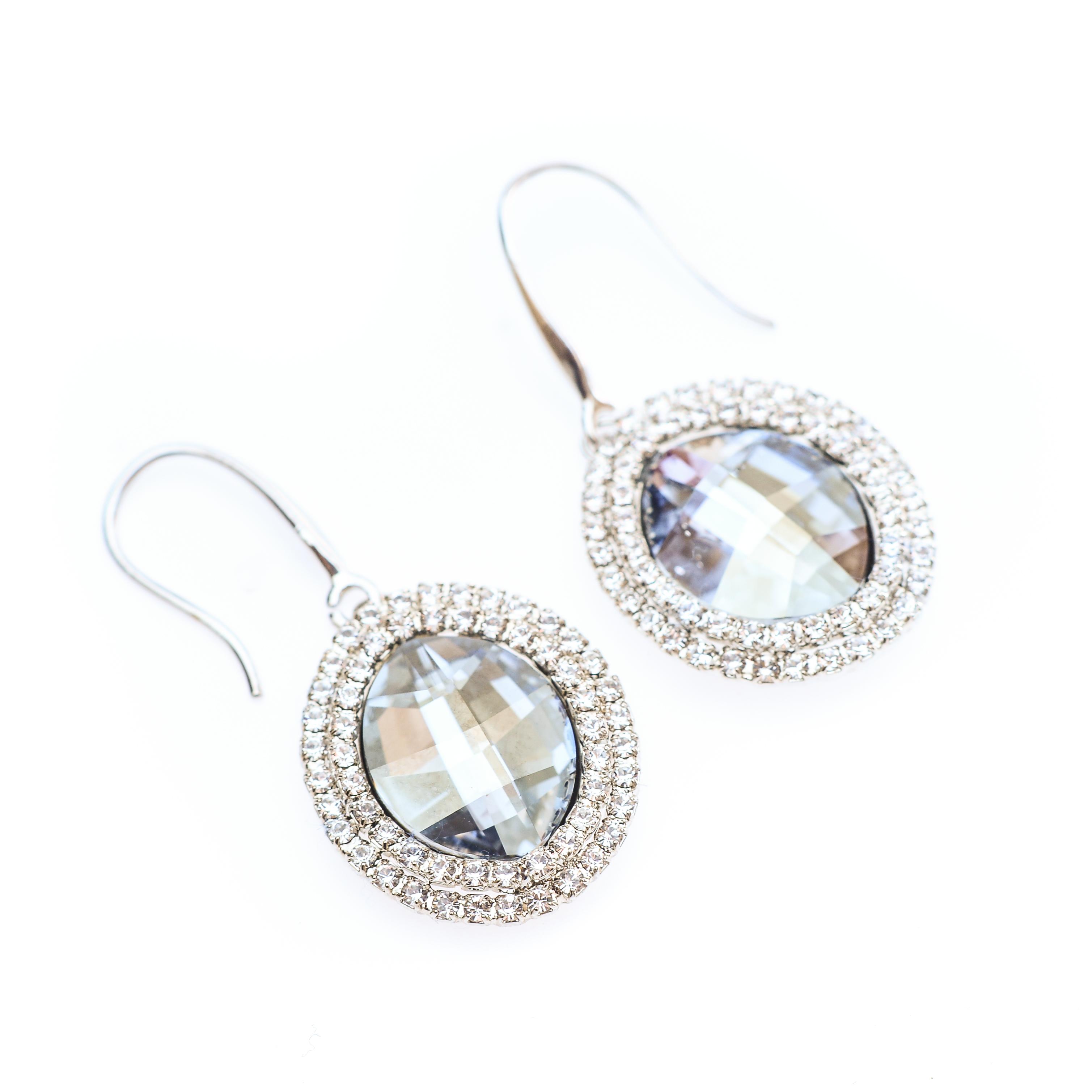 Cercei Swarovski Elements Sparkling Diamond