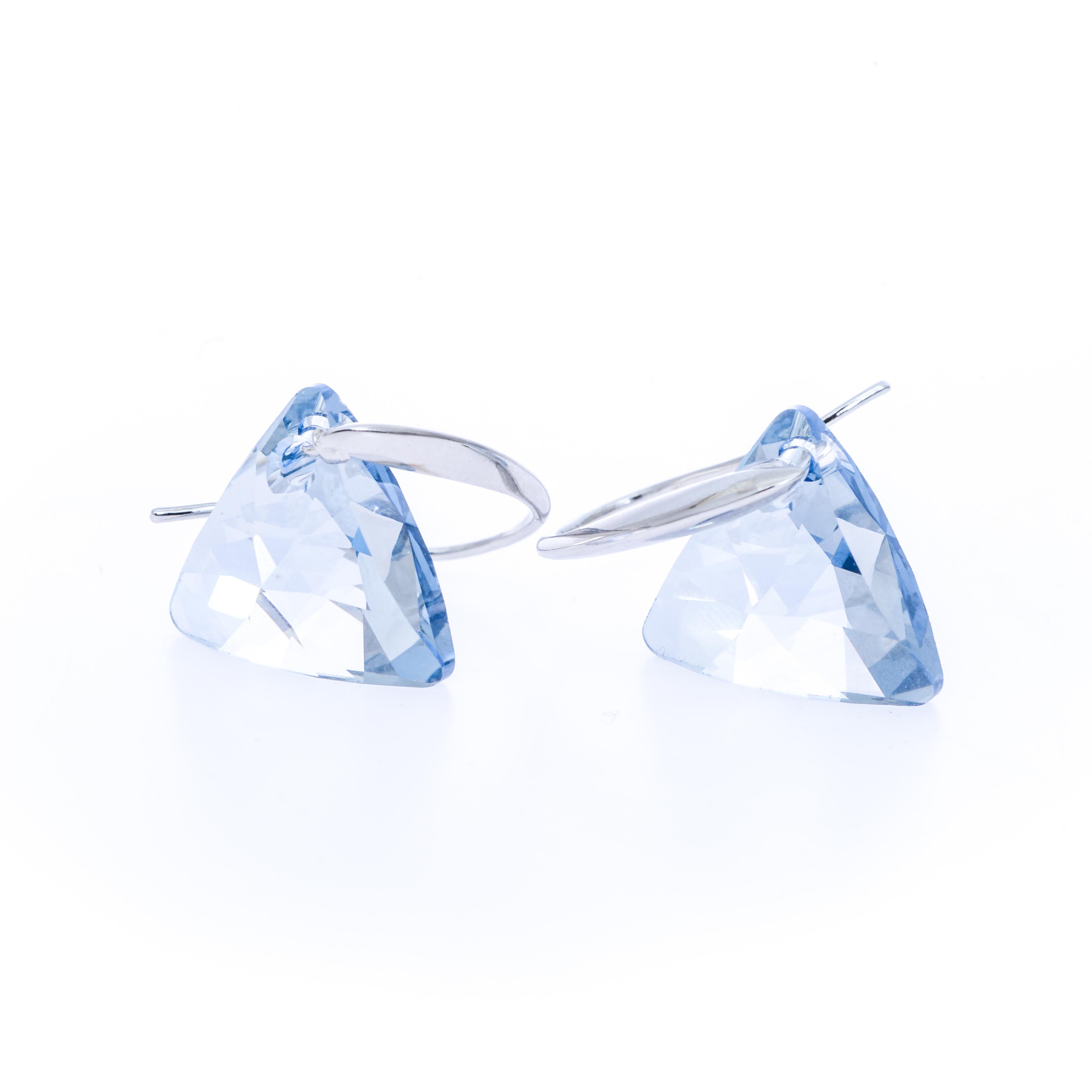 Cercei Swarovski Elements Blue Crystal