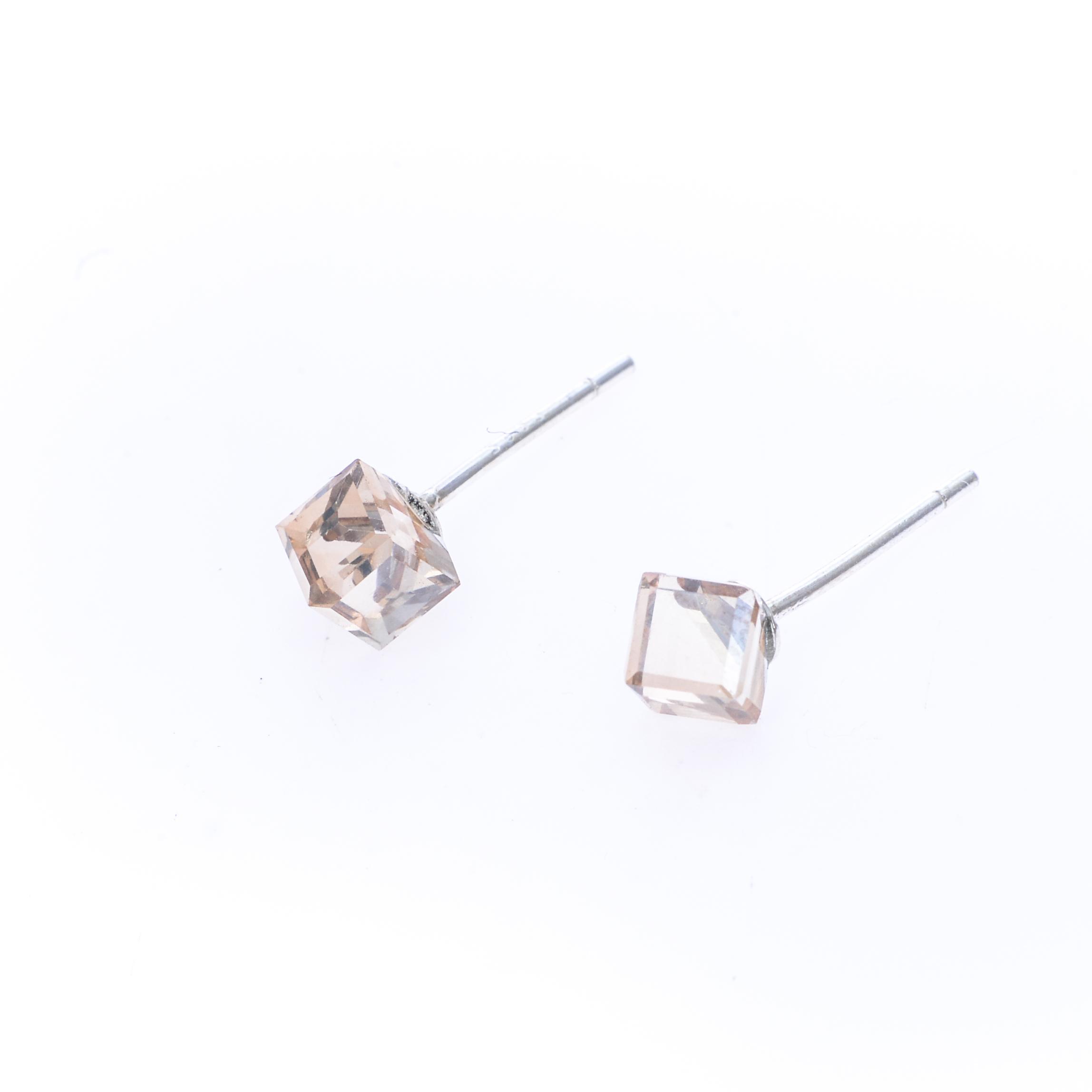 Cercei Swarovski Elements Nude Cube
