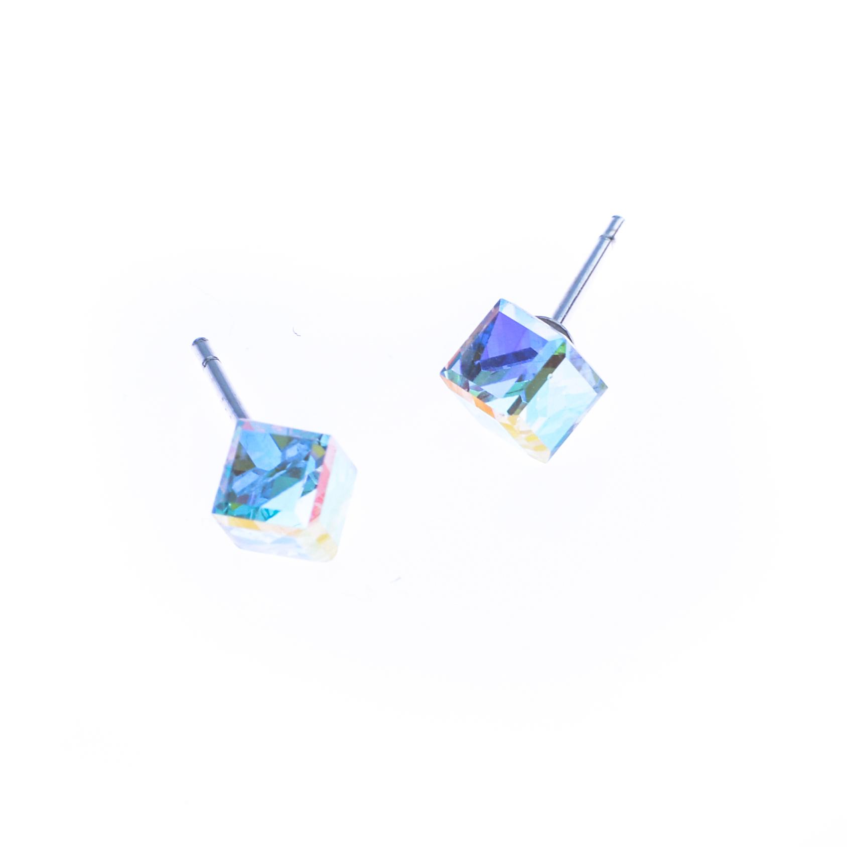 Cercei Swarovski Elements Effect Cube
