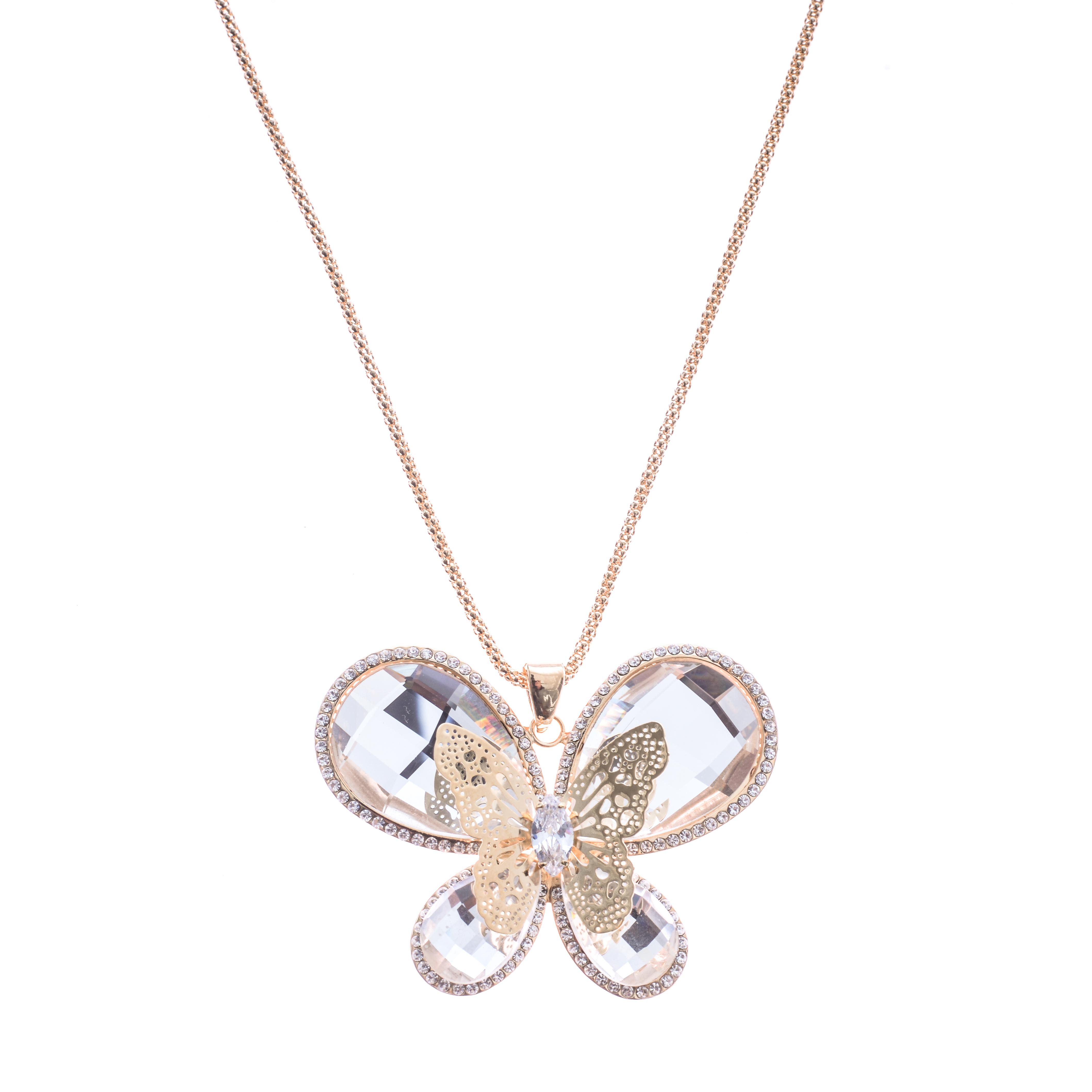 Lant Diamond Gold Butterfly
