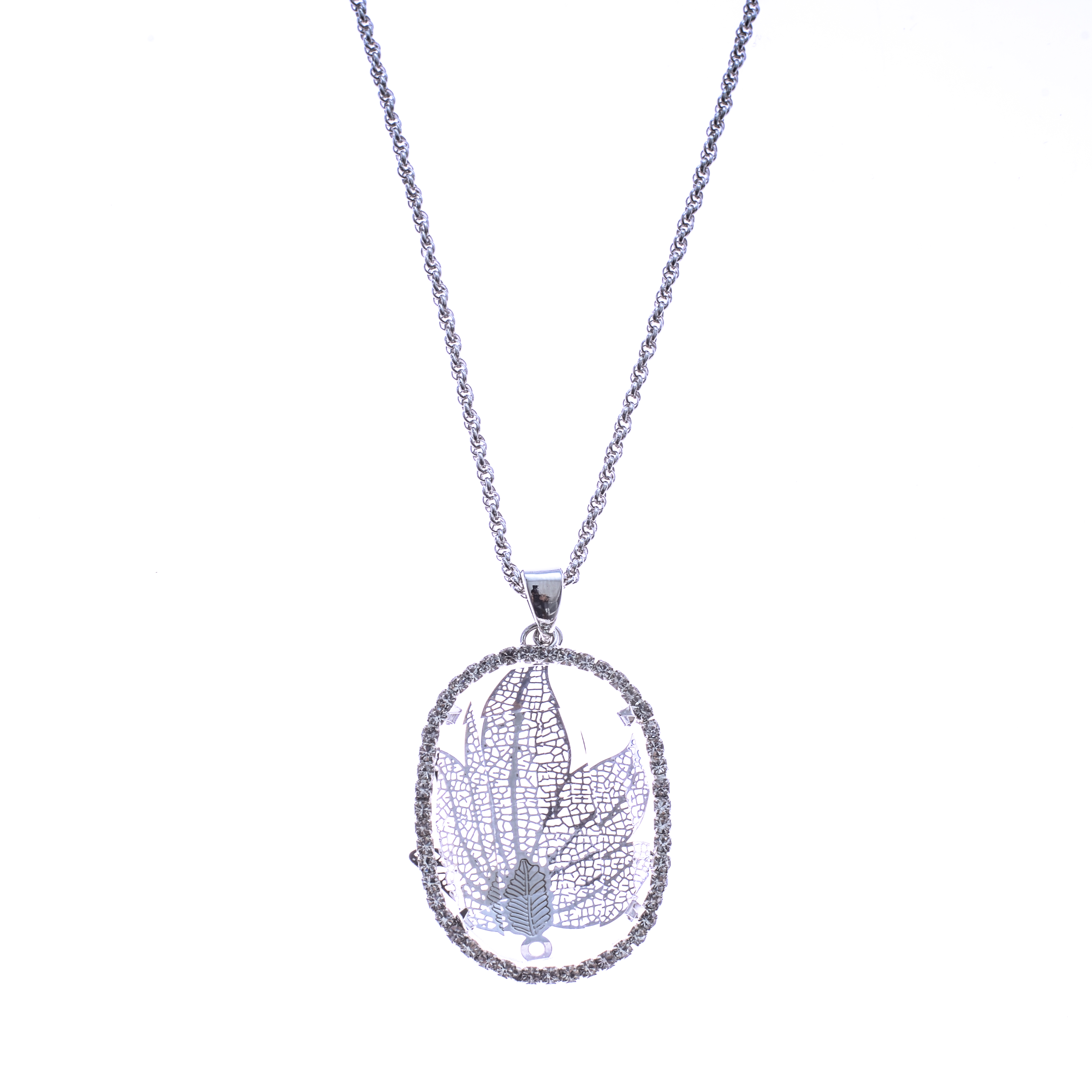 Lant Silver Diamond Leaf