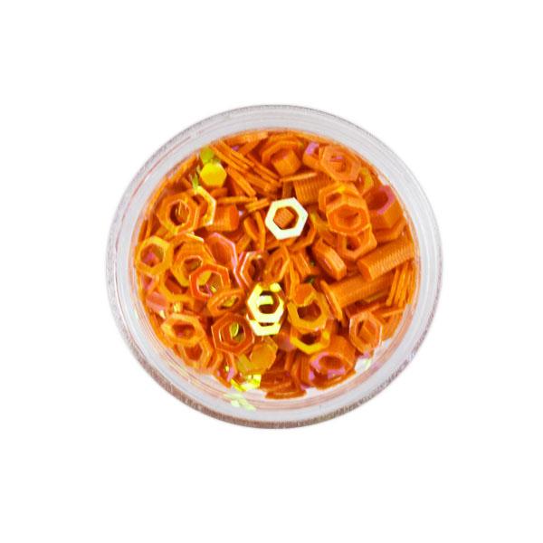 Sclipici hexagon Orange