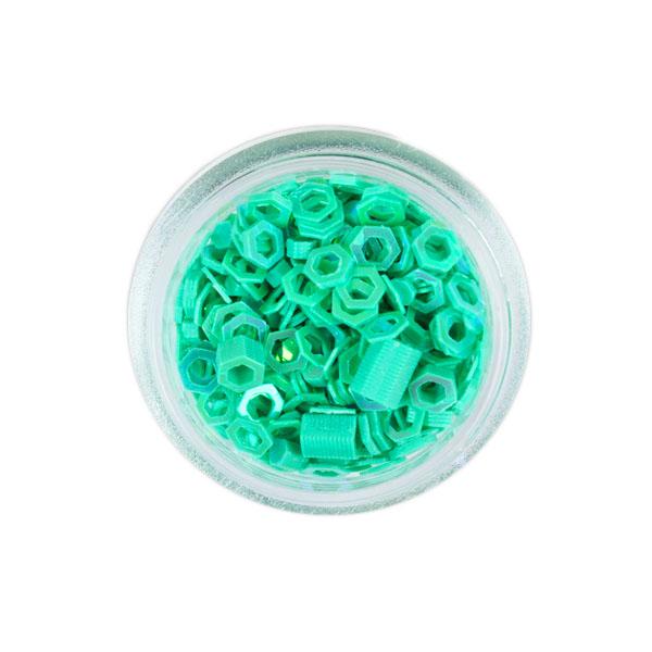 Sclipici hexagon Verde