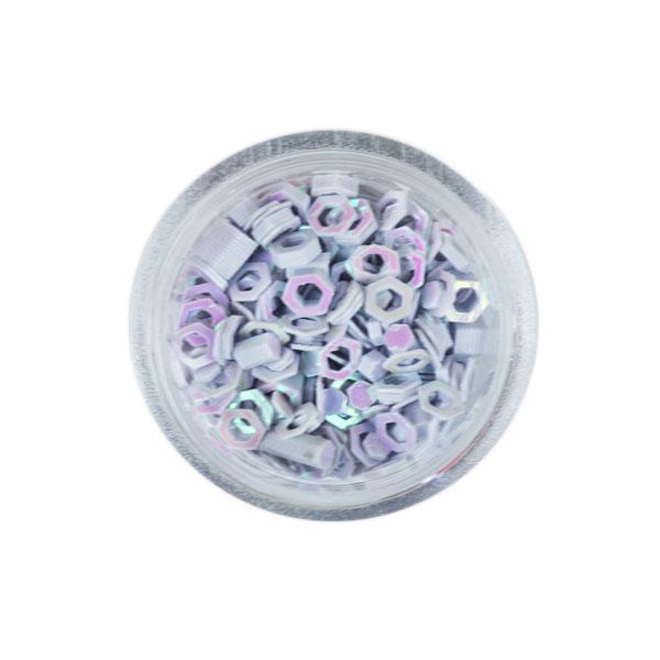 Sclipici hexagon Gri