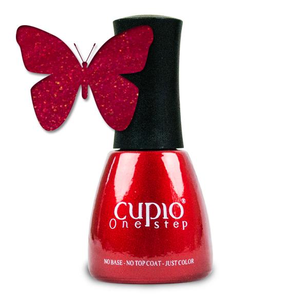 Gel Lac 3 In 1 Cupio One Step Fire Red 15ml R727