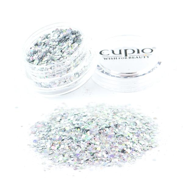 Paiete Cu Sclipici Argintiu Multicolor